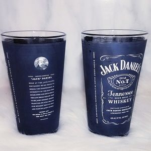 #633 Jack Daniels Old No. 7 black 2 glass cup